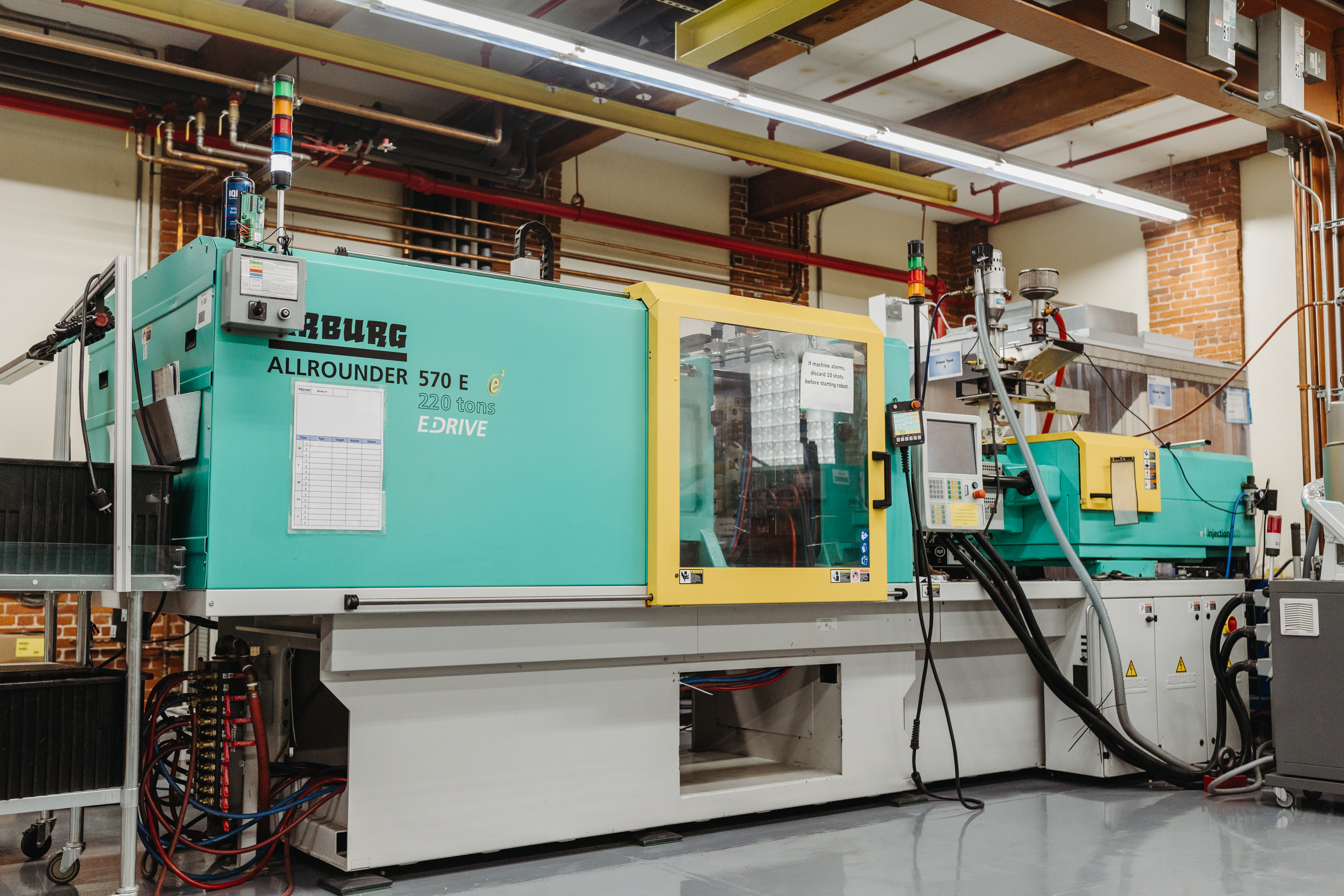 An injection molding machine that produces sensors